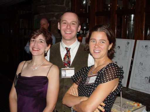 Chris (Orchanian) Adler, Nathaniel Lew, and Louise Gillette