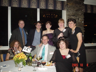 TOP: David Sapery, Sean Dougherty, Chris (Orchanian) Adler, Janet (Hoffman) Beckerman, Judy (Levine) Skolnick<P>BOTTOM: Fern Abrams (wife of David Sapery), David Adler (husband of Chris Adler), Rachel Piven-Kehrle